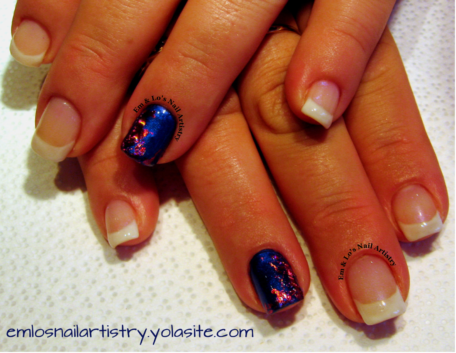 French Gel Overlay ~ Accent Nail - CND Fall 2013 Forbidden Additives ...