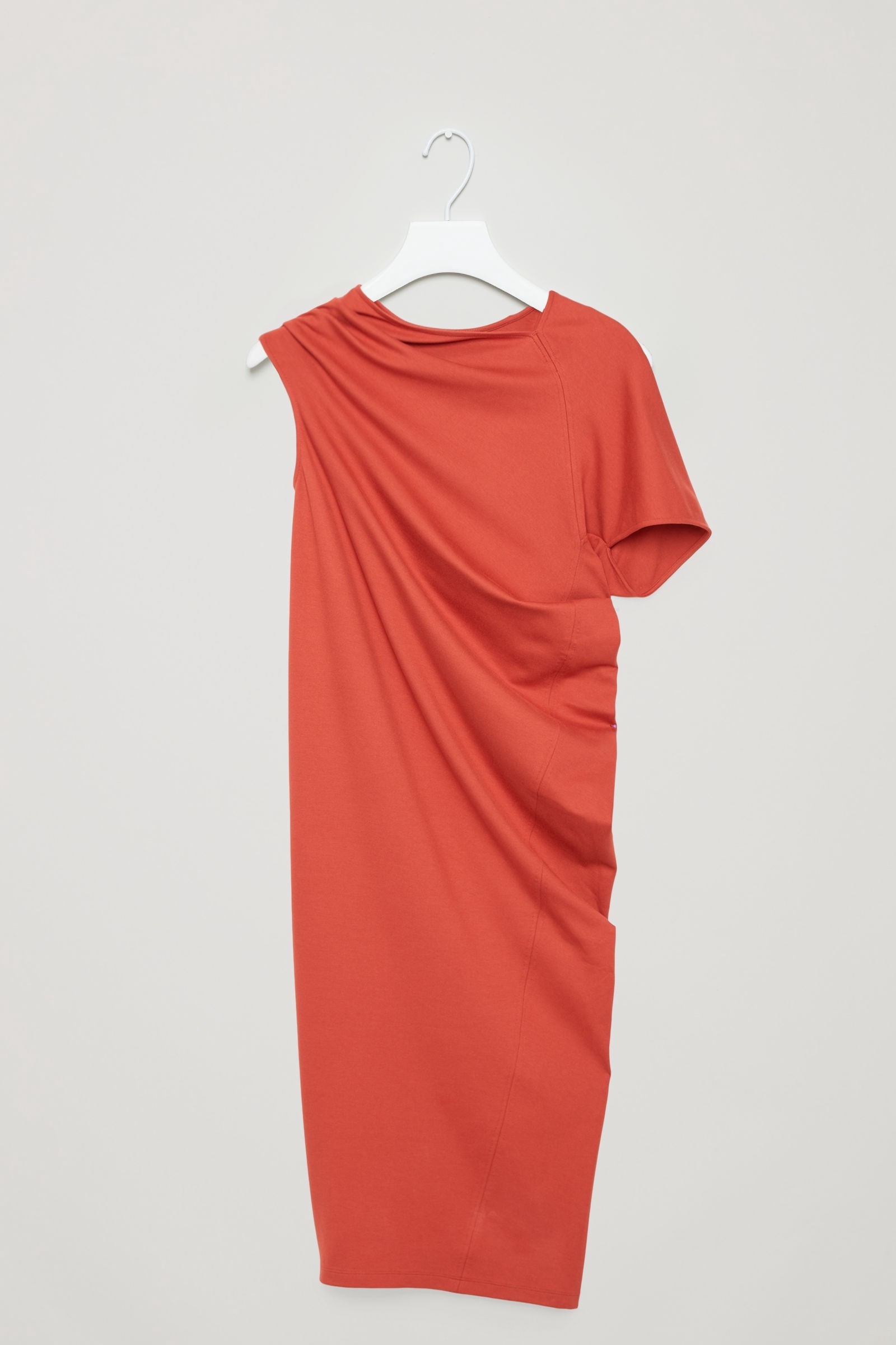 93614423dee4 Cos Asymmetric Draped Dress - Rust XS | Products