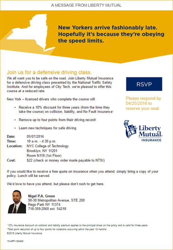 Liberty Mutual Insurance Quote Liberty Mutual's Discount Defensive Driving Course  Events .