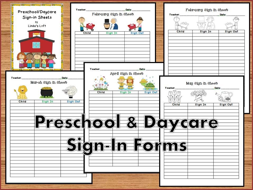 preschool and daycare sign in forms pinterest preschool