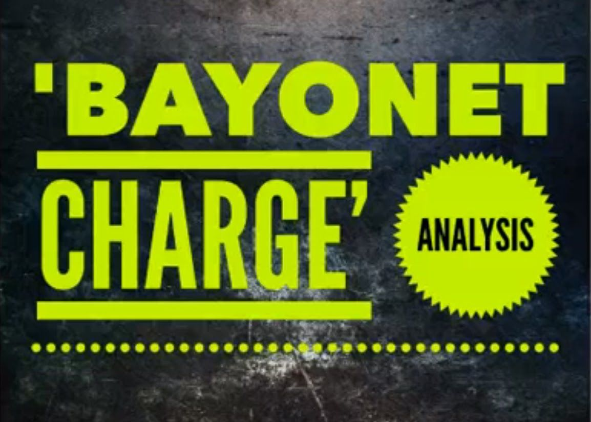 ted hughes bayonet charge grade 9 analysis ideas and rh pinterest com