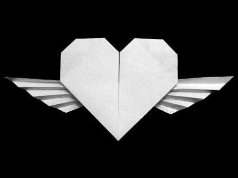How To Make Origami Heart With Wings This Channel Is Updated Weekly