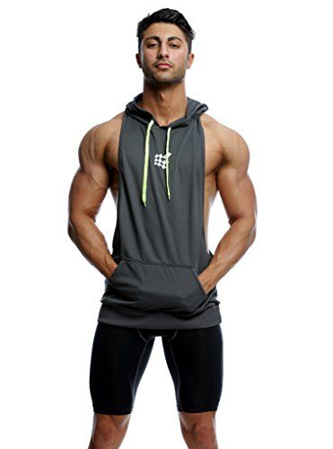 ad3babda50272 Bodybuilding Stringer Hoodie Gym Tank Top Racerback Hoodi... https   www