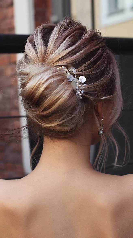 65 The most romantic wedding hairstyles 2019 (с изображениями)   Свадебные прически, Прически ...