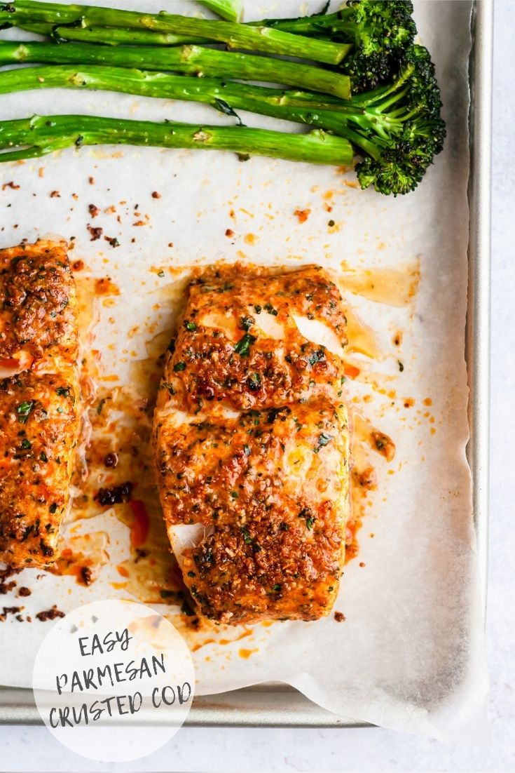 Parmesan Crusted Cod - an easy, healthy, delicious fish meal! #fishmeal