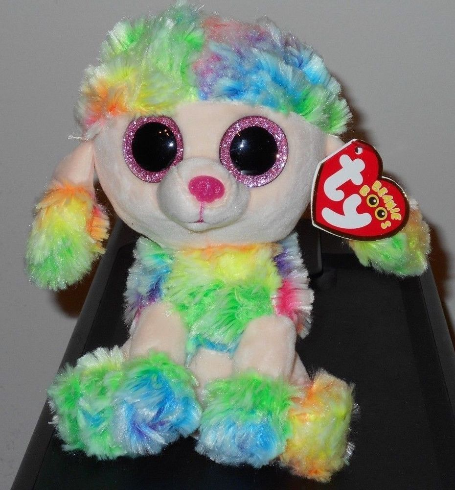 b42a53b6aa6 Ty Beanie Boos ~ RAINBOW the 6