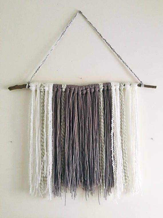 Bohemian Yarn Wall Hanging- Modern Fiber Decor-Boho Wall Décor ...