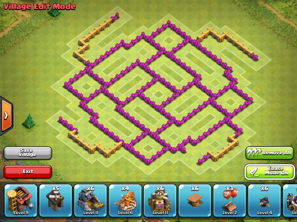 Clash Of Clans TH5 Base Gaming Pinterest