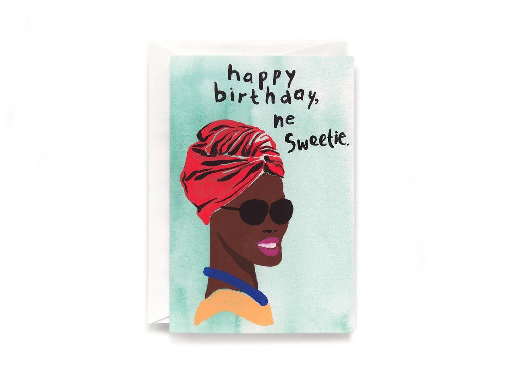 Birthday Sweetie Card White Envelopes Color Print And Birthdays