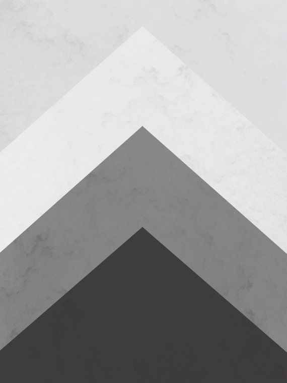 Geometric Print Grey Mountain Triangle Arrow By Melindawooddesigns
