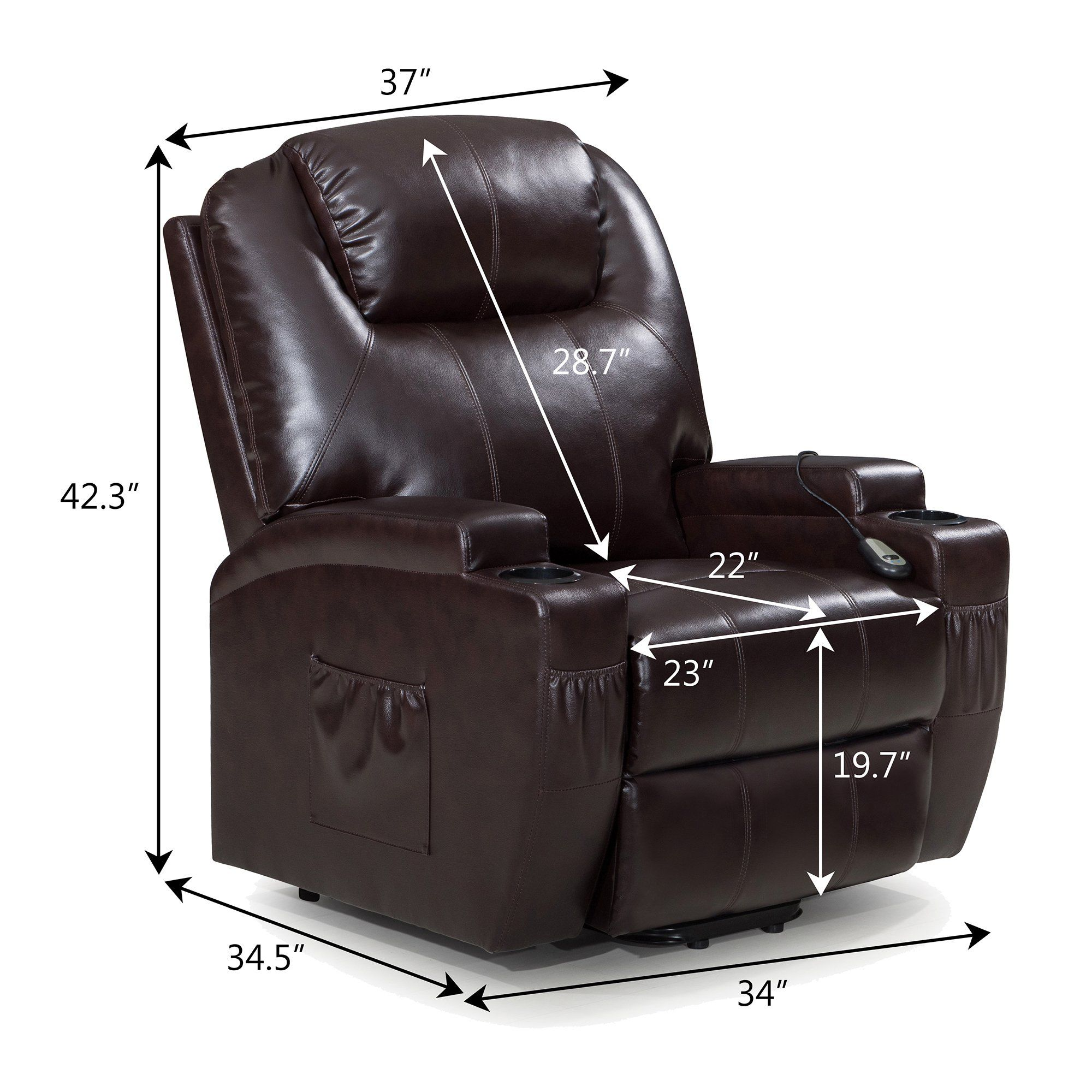 windaze Power Lift Recliner Chair with Luxurious Bonded ...