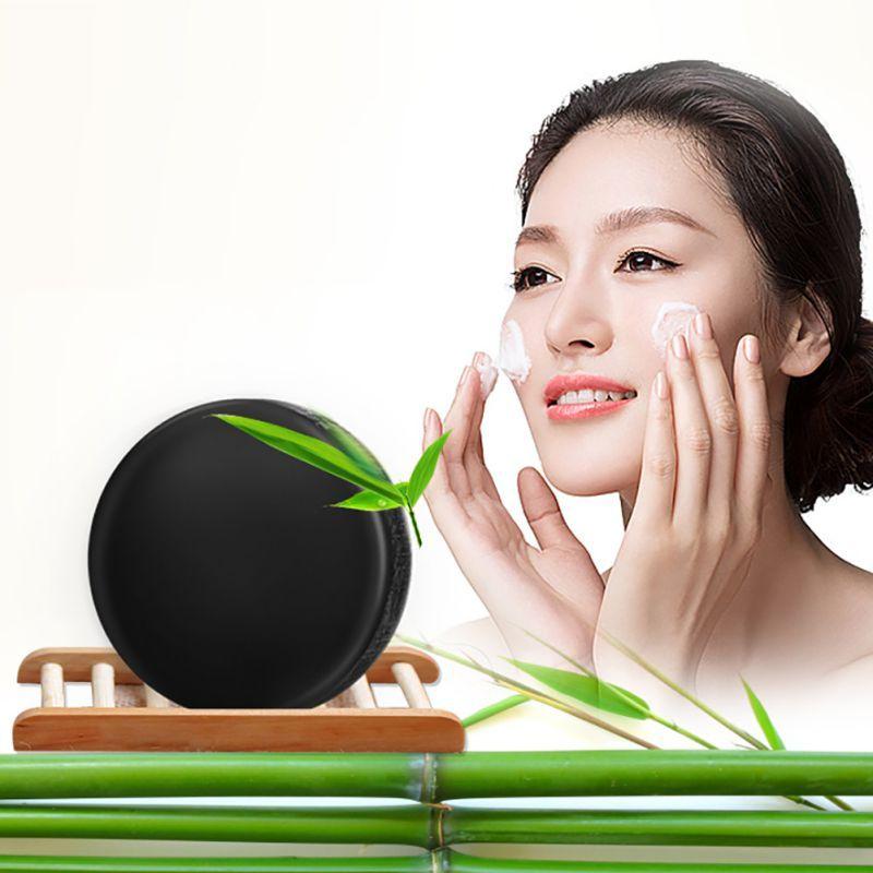 Bambù Carbone Sapone cura della pelle sbiancante naturale Della Pelle sapone rimozione di comedone trattamento dell'acne