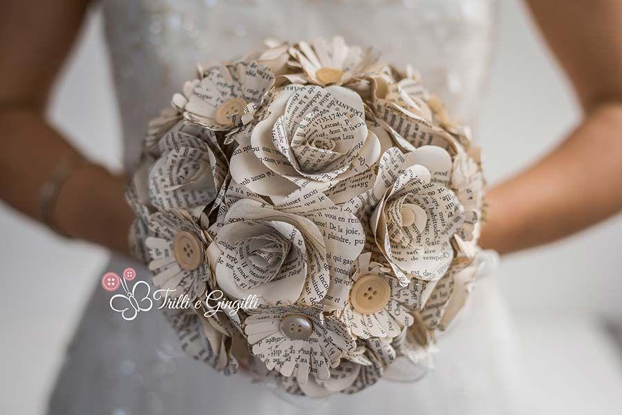 Bouquet Sposa Di Carta.Pin Su Matrimonio