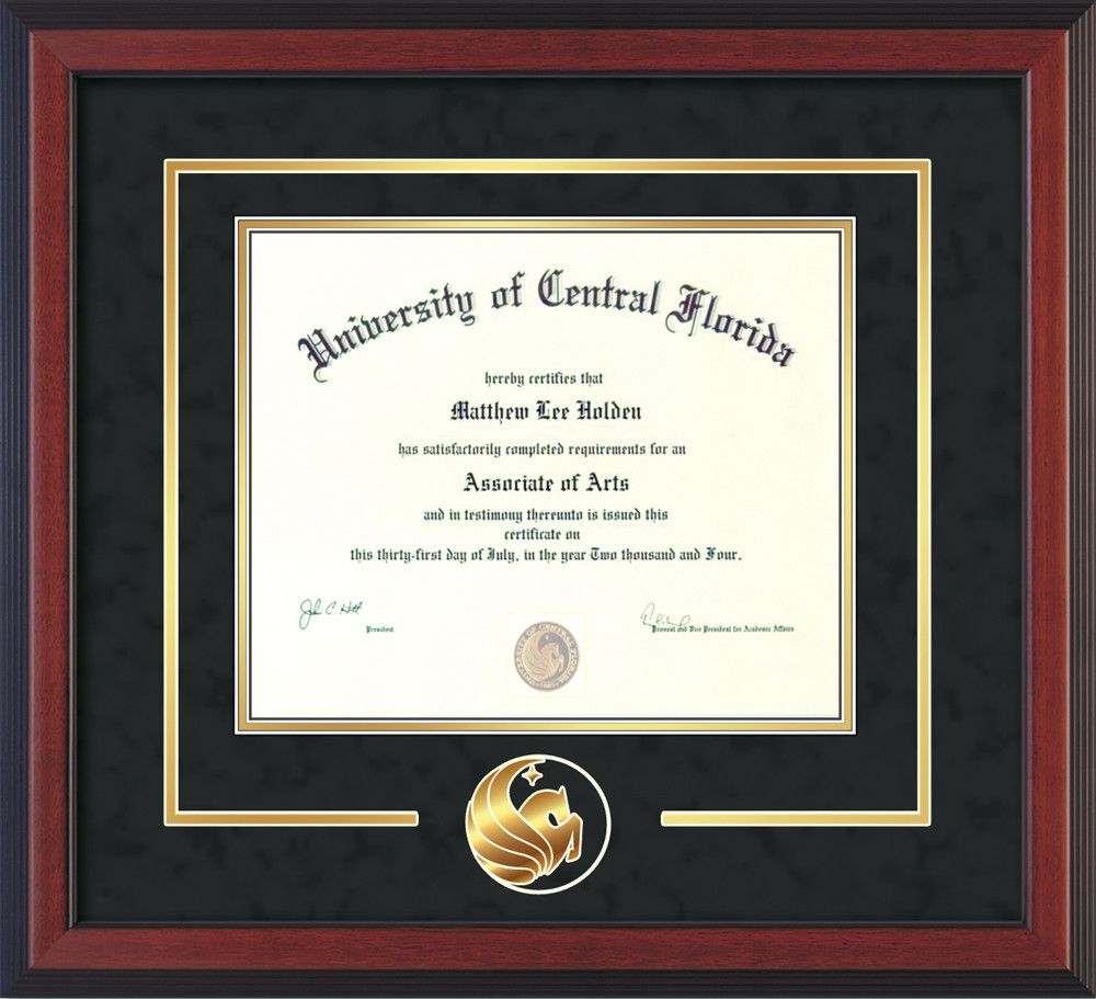 UCF Diploma Frame - Cherry Reverse -\
