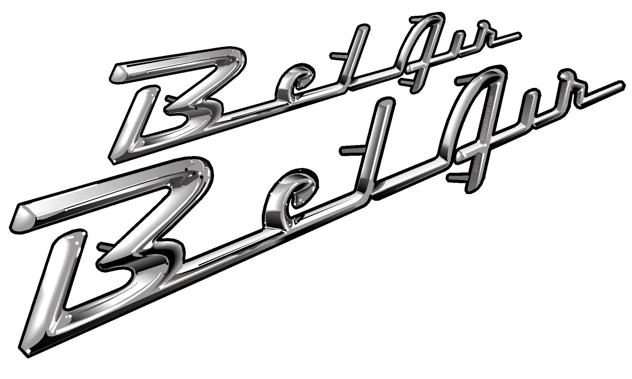 Chevy Belair Script White Background