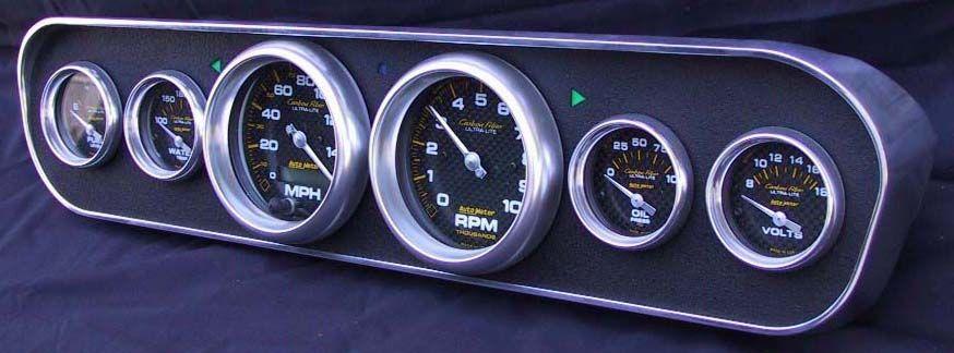 1964 1966 Mustang 6 Gauge Billet Aluminum Instrument Bezel Free Shipping Autos Und Motorrader Autos Motorrad