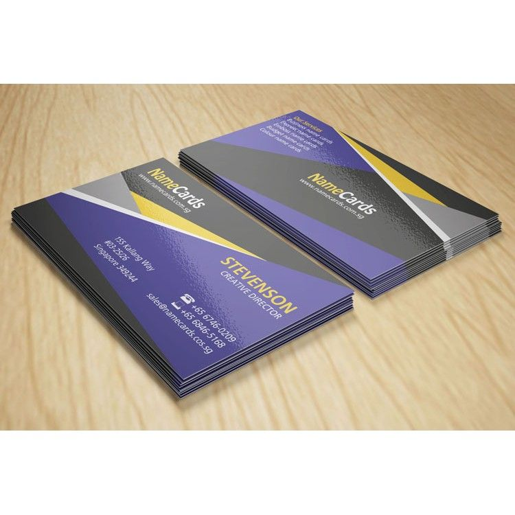business name cards 3 colour pms offset printing urgent name card printing - Name Card Printing