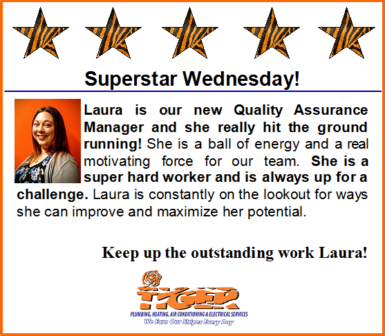 Way To Go Laura Superstar Wednesday Trust Tiger Heating Air