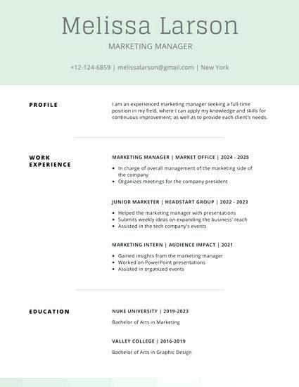 Field Marketing Manager Sample Resume New Afbeeldingsresultaat Voor Resume Design Inspiration  Cv En .