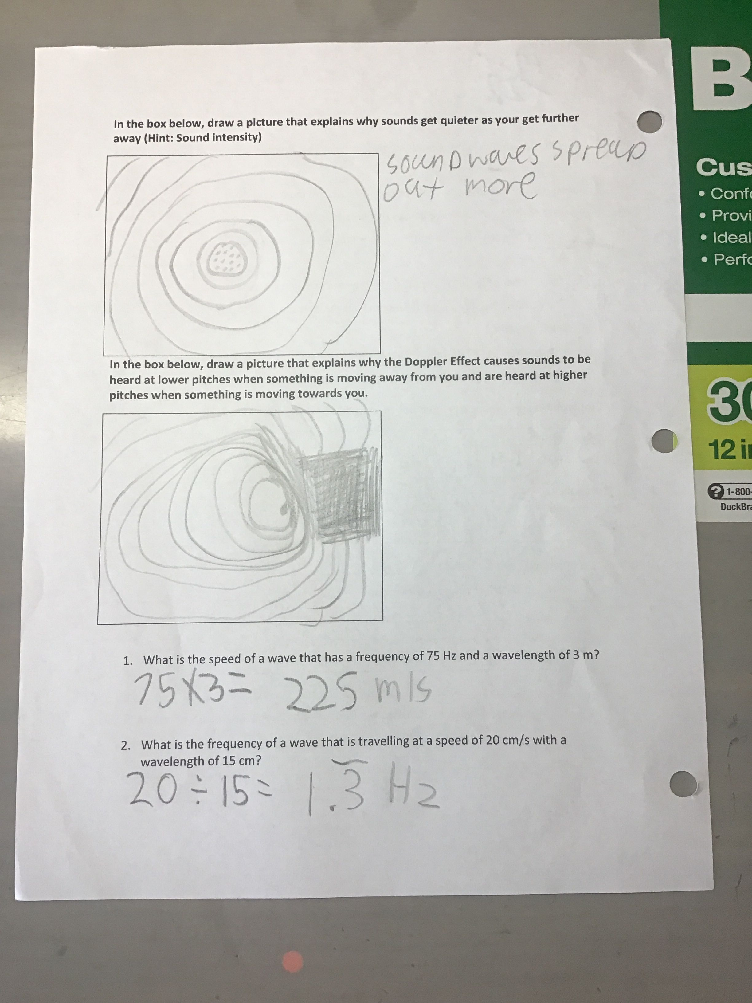 8 4 Worksheet Sound Waves Page 2 4 2 19 Sound Waves Pictures To Draw My First Year