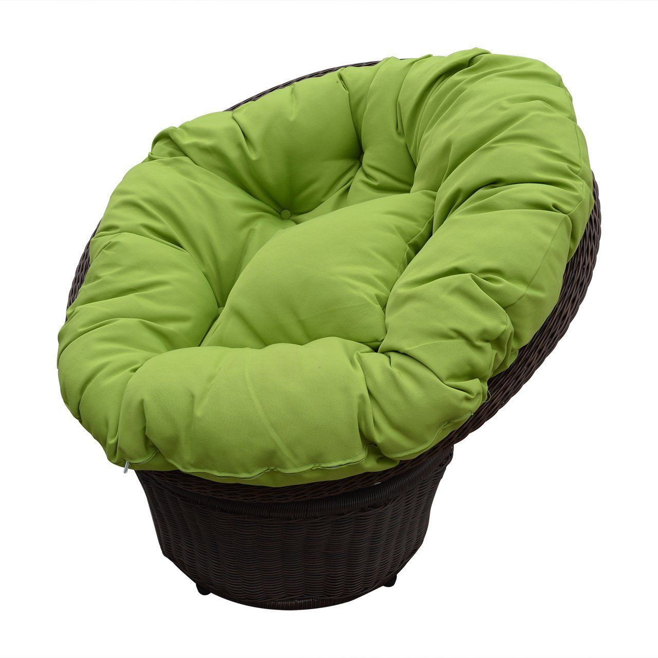 Handmade Rattan Wicker Swivel Rocking Round Chair With Cushion (Green):  Amazon.ca: Patio, Lawn U0026 Garden
