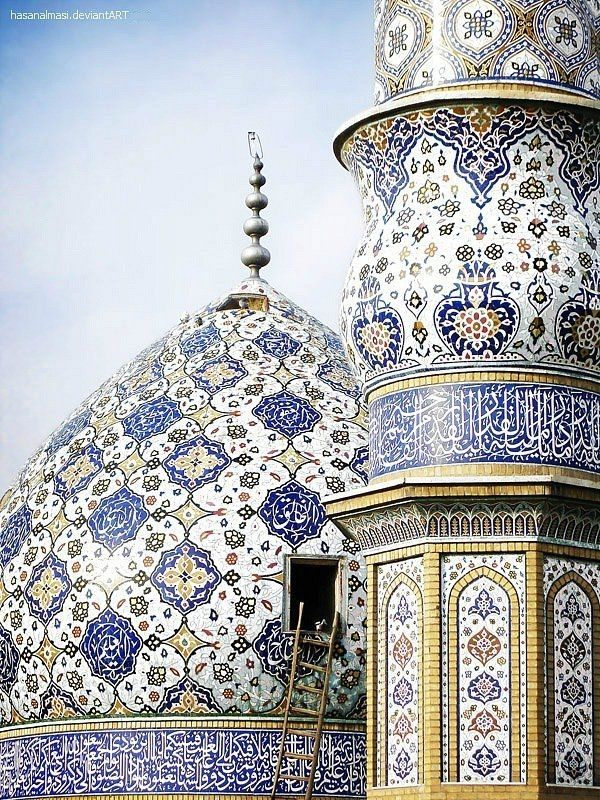 The rich history of mosque wall art designs architecture for Mosque exterior design