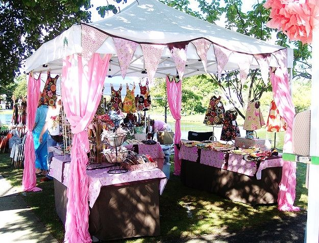 Craft Show Booth Display Ideas | Bags/business card-- make it unique. You want people to remember you.