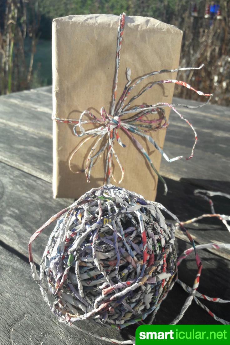 Photo of Papier-Garn selber machen – nachhaltiges Geschenkband ohne Plastik