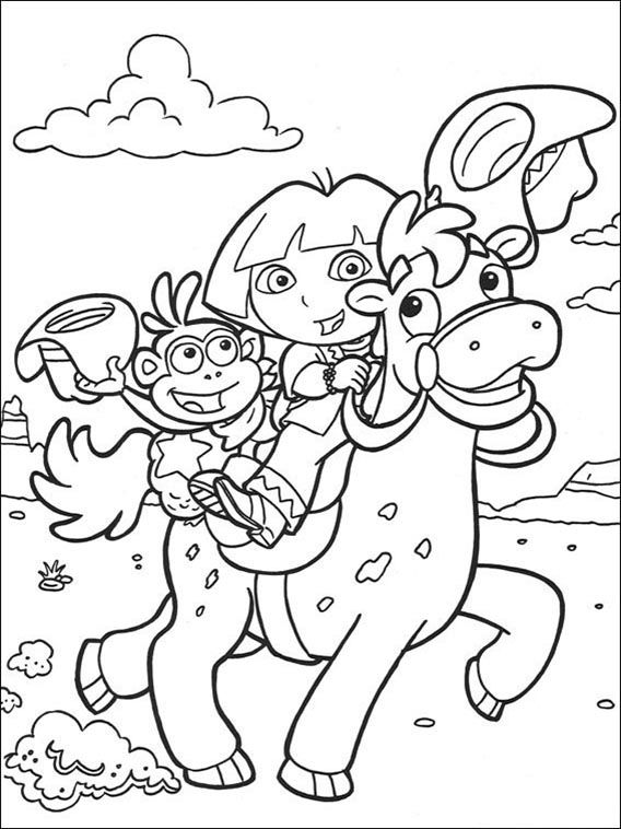 Dora the Explorer Coloring Pages 60  Coloring pages for kids