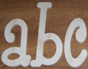 Unfinished Thin Wooden Wall Letters Paintable Thin Wooden Wall