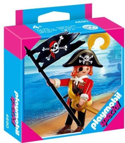 Playmobil Skull Pirate by Playmobil. $10.99. 3.9 x 3.9 x 1.4 inches. The Playmobil Skull Pirate is ready to come aboard and take your treasure! The Playmobil Specials are a great way to add onto a child's Playmobil collection a little bit at a time, or to mark a special occasion or event. Playmobil toys offer children everything they need for imaginative play. Every box contains well-crafted, highly detailed, plastic toys for kids to pretend with. Build a world of Play...
