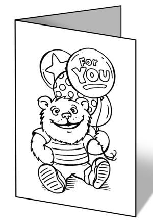 Witty image within printable get well cards to color