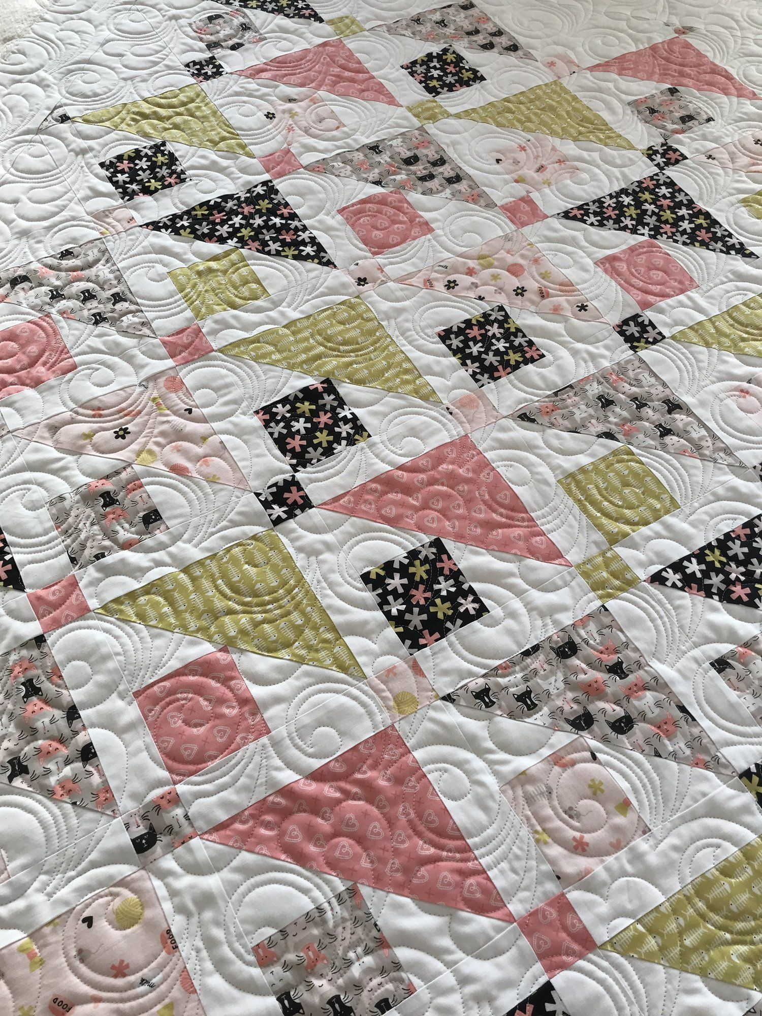 Mar 16 Sandy\'s grand baby\'s quilt! | quilting | Pinterest | Colchas