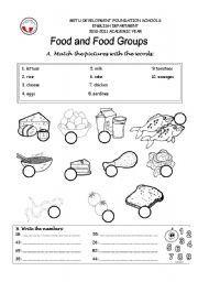 English Worksheets: food groups | Educational/homeschool | Pinterest ...