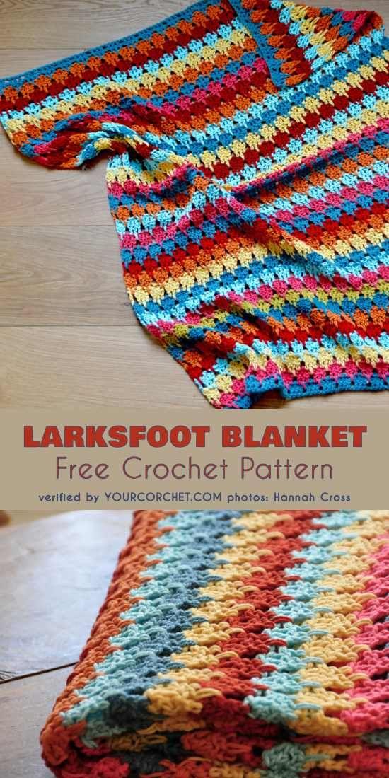 Larksfoot Blanket Free Crochet Pattern   crochet techniques ...