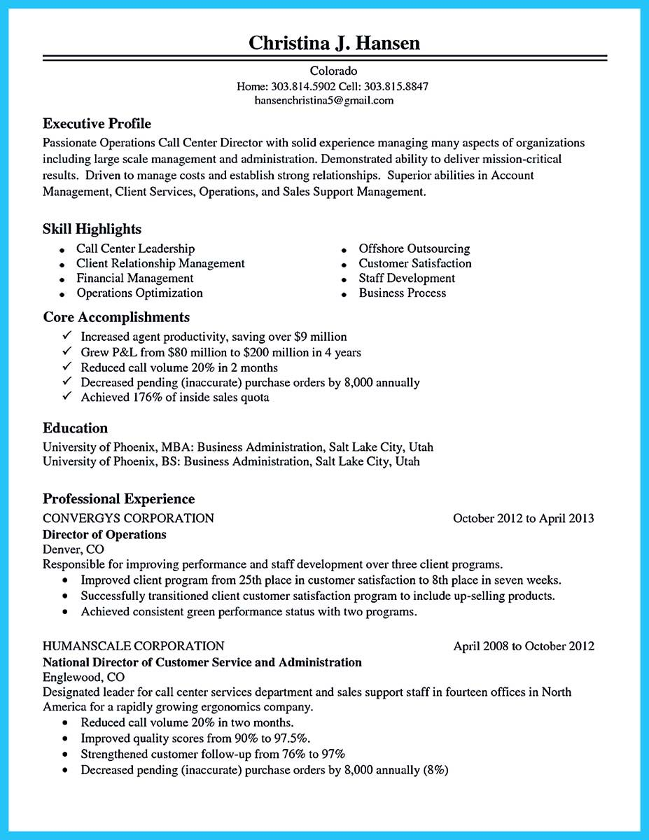 Awesome Cool Information And Facts For Your Best Call Center Resume Sample Check More At Http Snefci Org Cool I Good Objective For Resume Call Center Resume