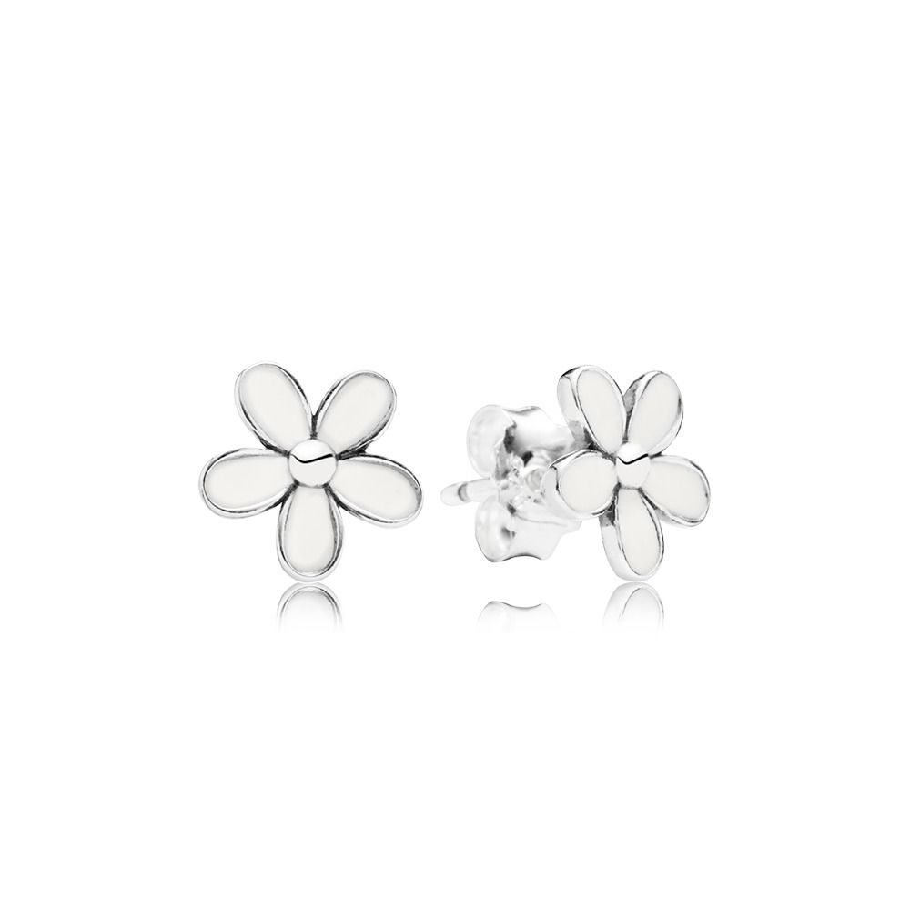 ecf4c3125 Pandora Darling Daisies White Enamel Earrings O0768 - Studs ...