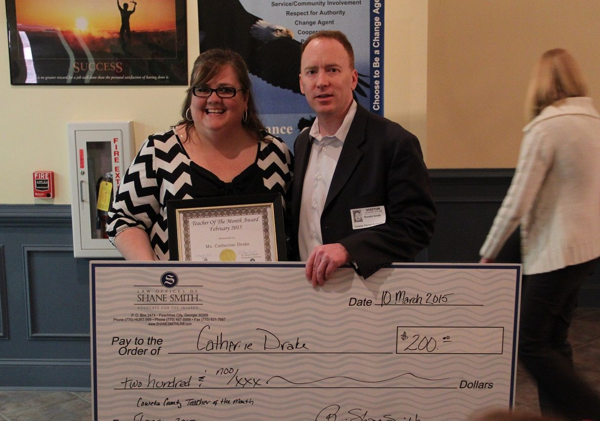 February 2015 Teacher of the Month Catherine Drake of