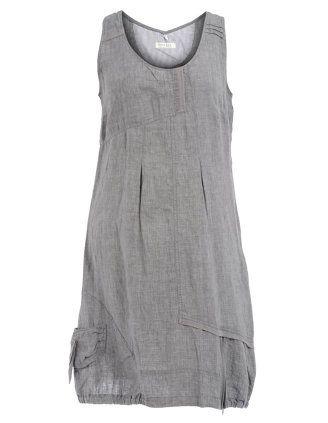 8164db10fa86c7 Leinenkleid in Grau / Meliert designed von Open End in der Kategorie  Kleider bei navabi.de
