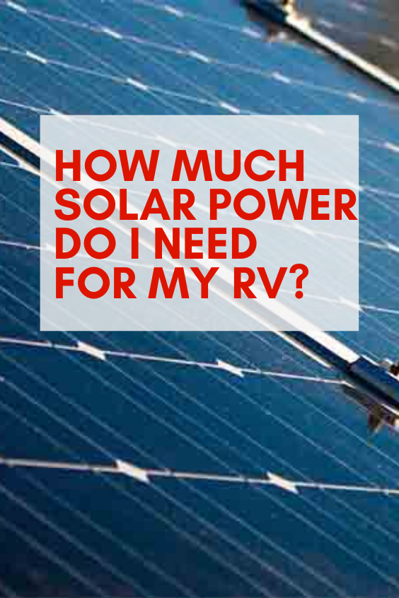 Photo of How Much Solar Power Do I Need for My RV?