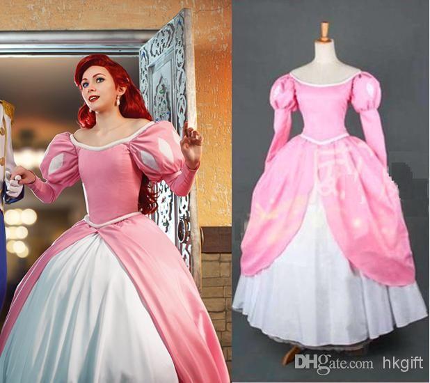 Professional The Little Mermaid princess Ariel Pink Dress Sleeping ...