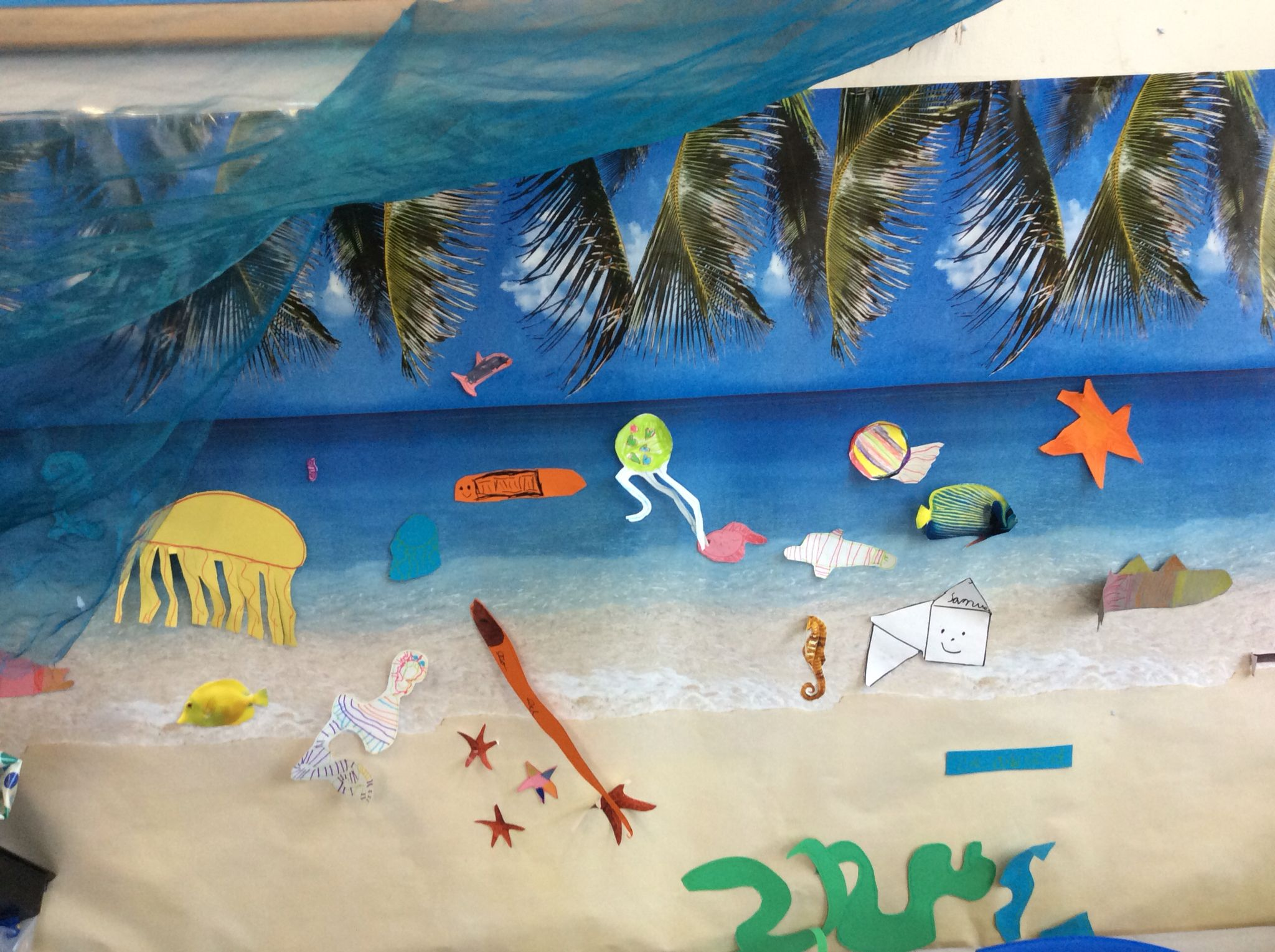 under the sea children u0027s work display eyfs sea creatures