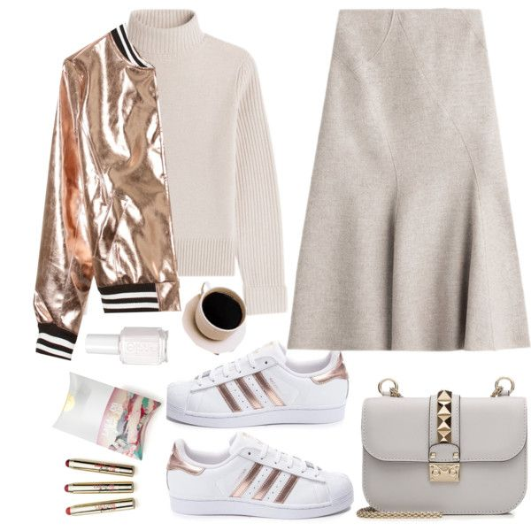 Nude and metallic by lidia-solymosi on Polyvore featuring Vanessa Seward,  Sans Souci,