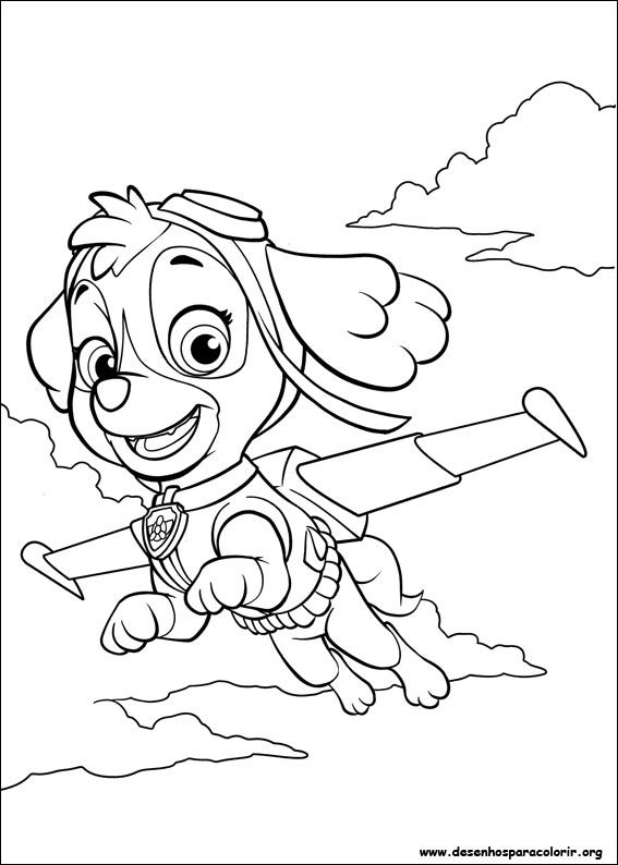 Free Coloring Pages Of Sky From Paw Patrol Patrulha Canina Para