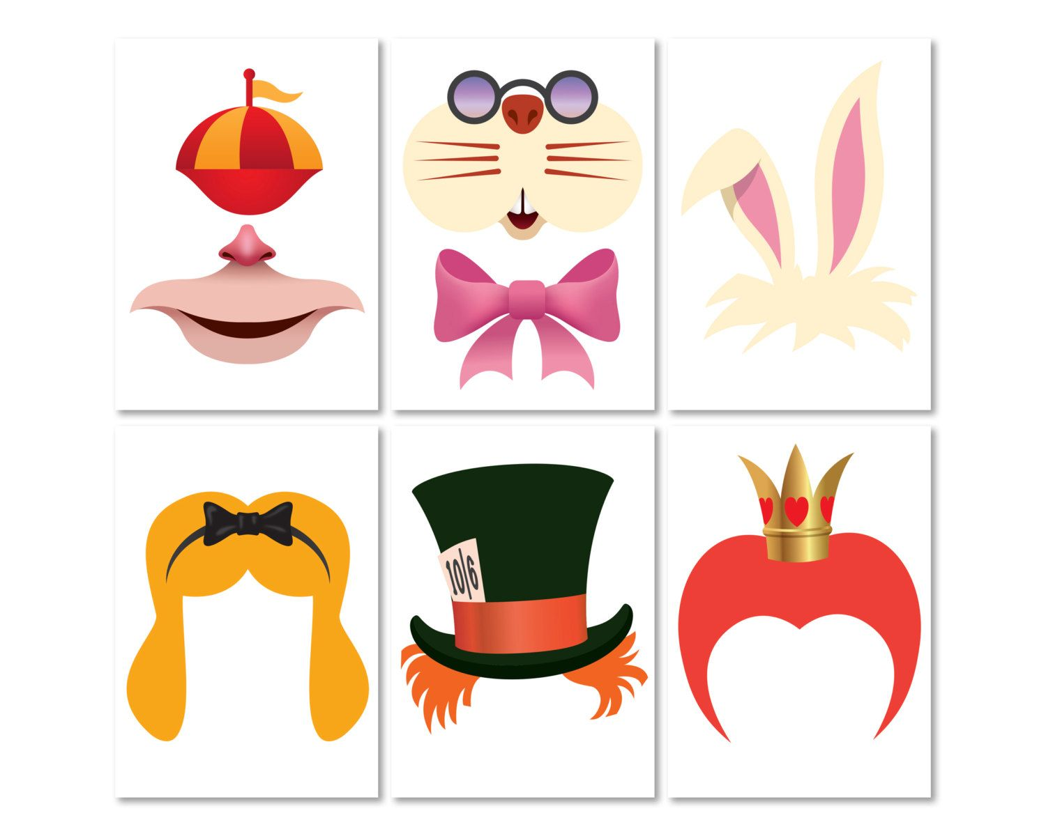 Home Garden Alice In Wonderland Photo Prop Greeting Cards Party Supply