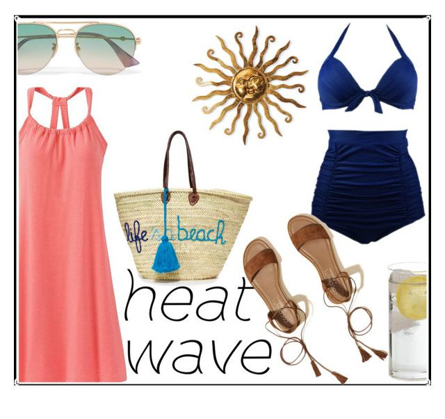 """Heat Wave"" by dhieta17 on Polyvore featuring prAna, Hollister Co., Gucci, Soeur Du Maroc, Summer, dress and heatwave"