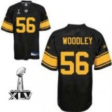 afd1fe56f Steelers  56 LaMarr Woodley Black With Yellow Number Super Bowl XLV Stitched  NFL Jersey