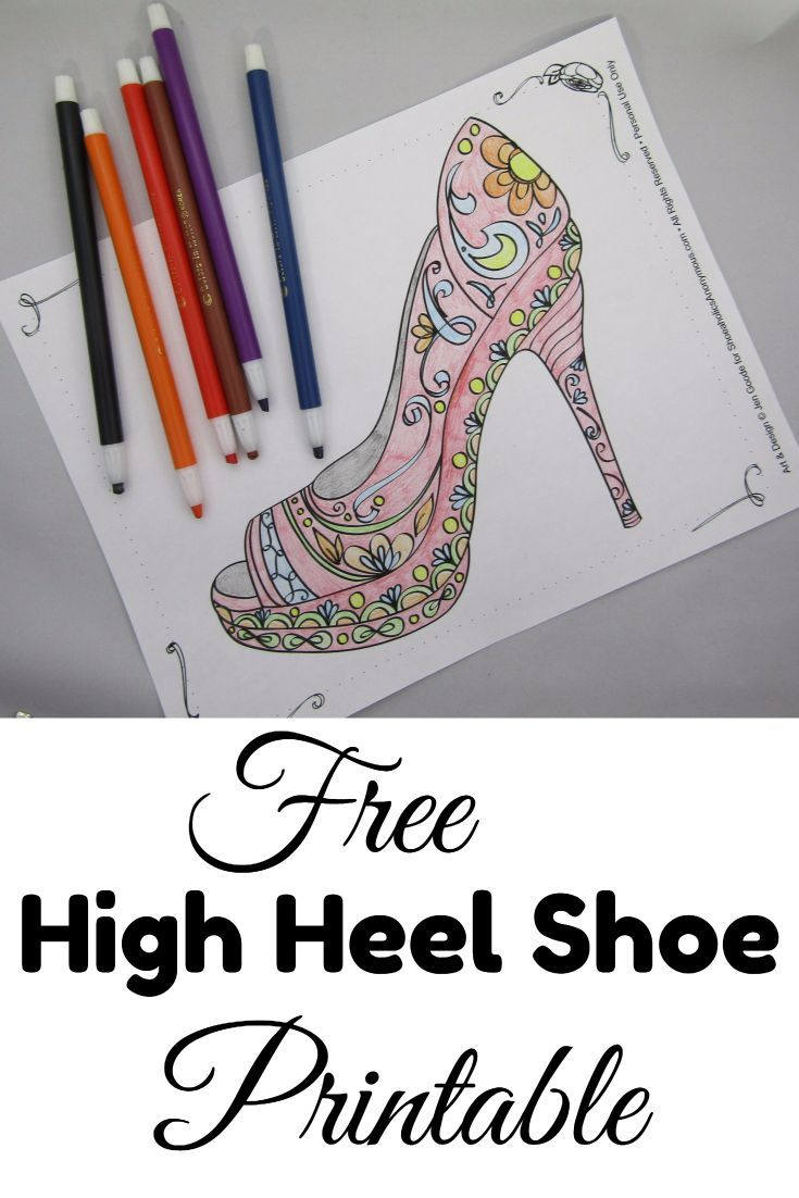 Retail Therapy Aka Shoe Shopping Can Get Expensive But Coloring This Beautiful High Heel Page Is Free