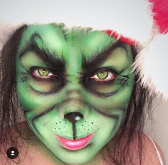 Christmas Holiday Makeup The Grinch Holiday Makeup Holiday Makeup Christmas Christmas Makeup