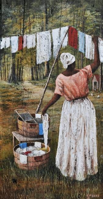 LAUNDRY DAY BLUES LARRY 'KIP' HAYES ART by Kip Hayes- Broussard Louisiana Artist Statement: I am a Louisiana artist, who enjoys painting scenes from the South.
